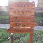 Gátér Községért Egyesület Utcajelző táblák